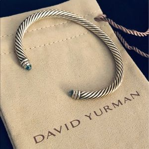 AUTHENTIC David Yurman Blue Topaz Bracelet